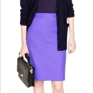 J Crew no 2 pencil skirt the pencil skirt purple 4